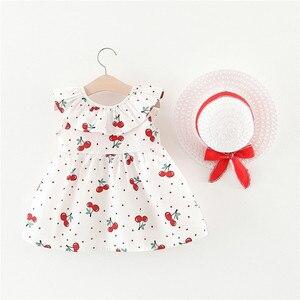 Одежда для малышей платье для девочек без рукавов, вишня принцессы с узором в горошек; Детское платье; Розничная продажа; Платья с бантом и шапочка, Костюм Детское платье для девочки; На каждый день; Одежда для детей на день рождения|Платья|   | АлиЭкспресс