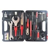 Kit de ferramentas de bicicleta portátil conjunto caixa de ferramentas de reparo da bicicleta hex chave removedor manivela extrator ferramentas ciclismo