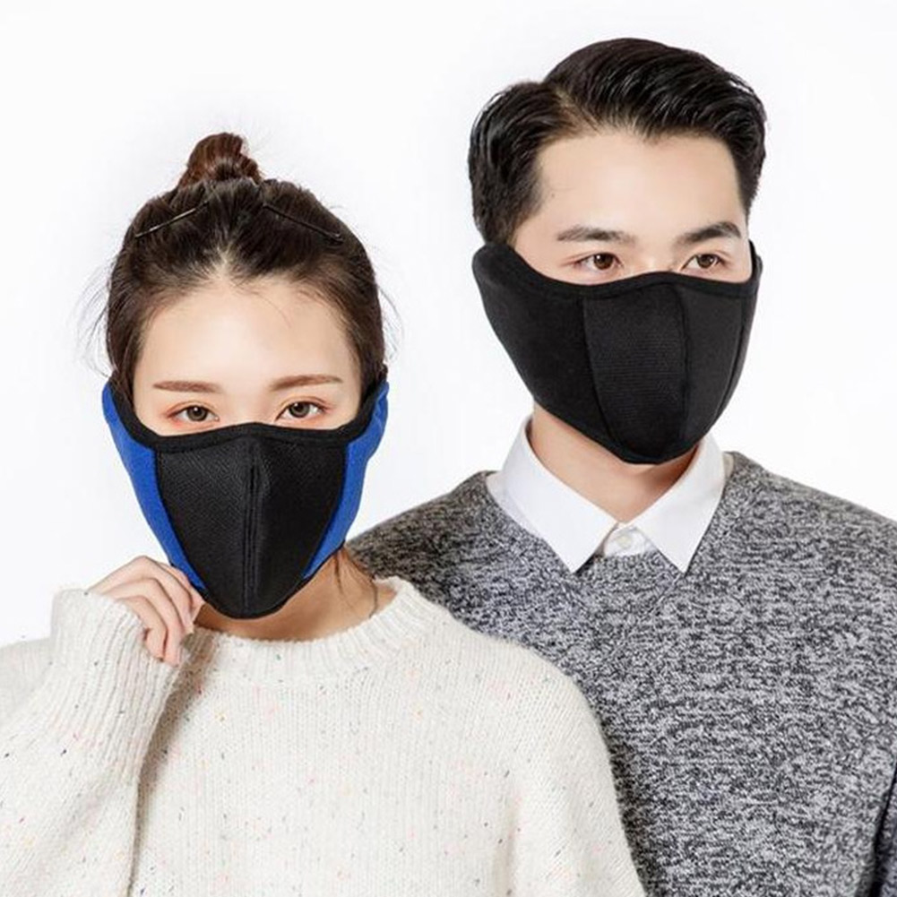 Windproof Plush Mask For Women Men Warming Breathable Cotton Dustproof And Nose Protection Blend Face Dropshipping TC21