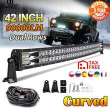 Co-light – barre lumineuse Led, faisceau combiné, 2 rangées, pour voiture, camion, 4WD, SUV, ATV, 42