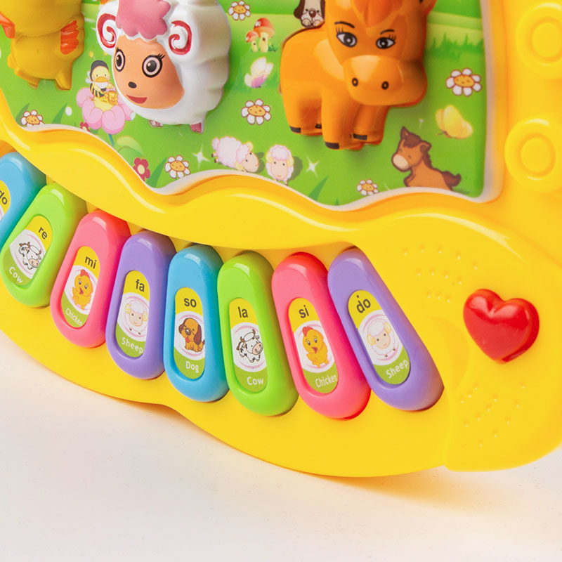 Children's Animal Farm Piano Music Toy eEducational Electronic Organ Baby Playing Instrument Recognition Ability Gifts 4