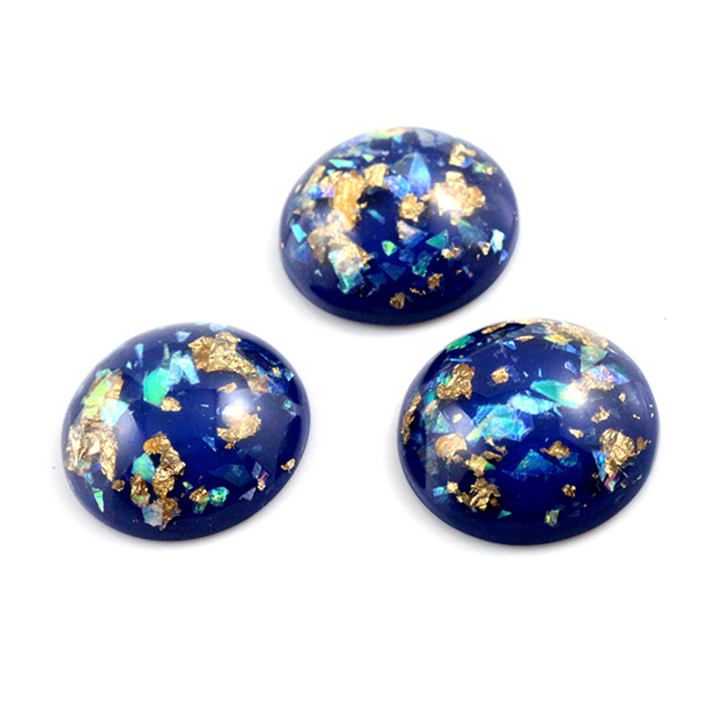 New Fashion 5pcs 25mm Blue Color Shell Fashion Style Flat Back Resin Cabochons Cameo G4-20