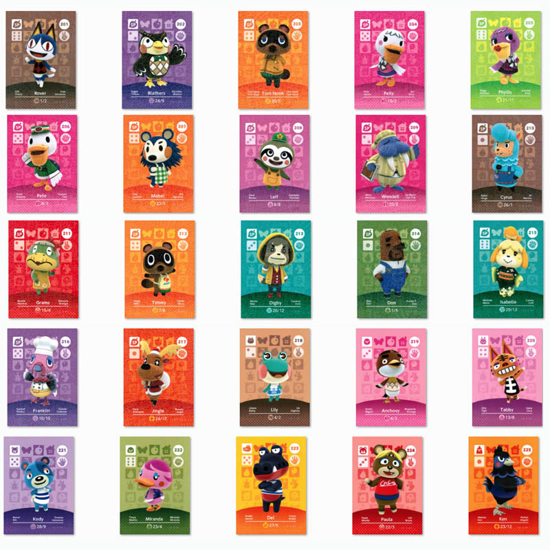 (201 To 225) Animal Crossing Card Amiibo Printed NFC Card Compatible Pick From The List