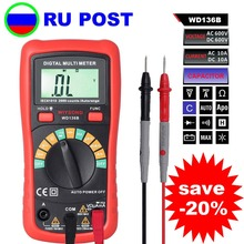 <<RU POST>> M082 WD136B Digital Multimeter DMM AC DC V A R C F 2000uF Capacitance Frequency Meter Backlight vs UT136B MS8233D mastech new professional digital multimeter for electrician ms8250a multimetro capacitance frequency meter vs fluke f17b 15b
