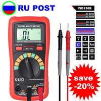 M082 WD136B Digital-Multimeter DMM AC DC V EINE R C F 2000uF kapazität Frequenz Meter Hintergrundbeleuchtung vs UT136B MS8233D