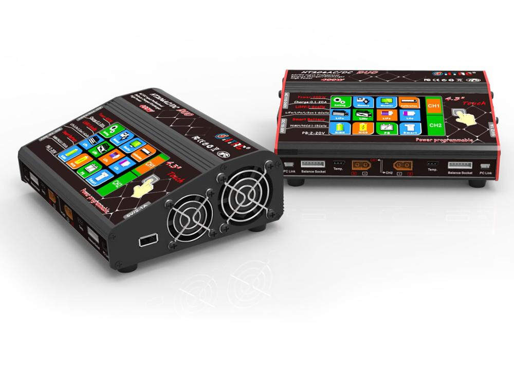 2019 New HTRC HT206 TRI AC/DC 3X200W 3X20A <font><b>4.3</b></font> Inch <font><b>LCD</b></font> Touch Screen Battery Balance Charger Discharger image
