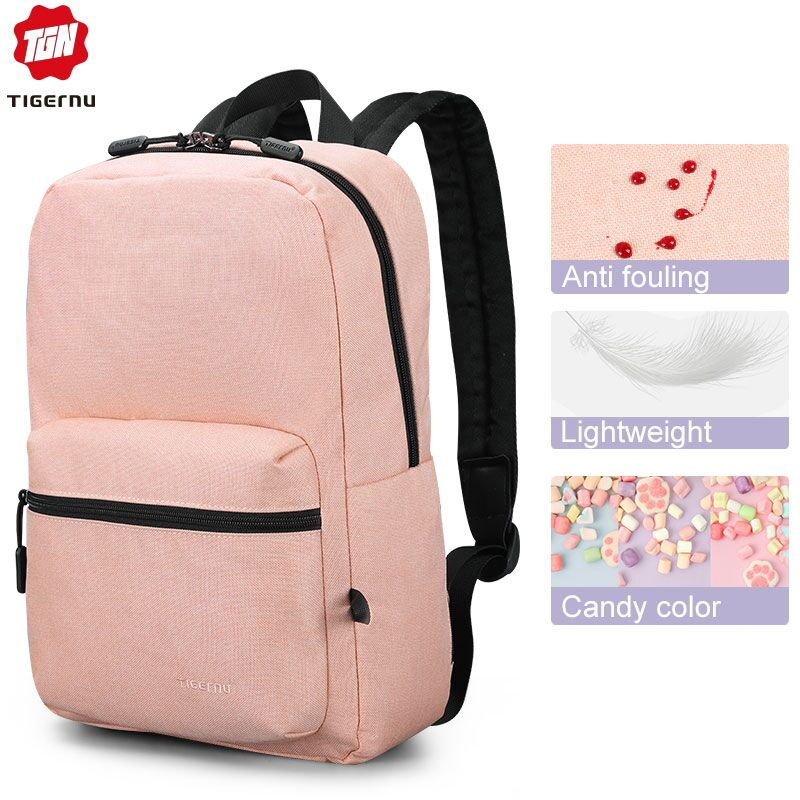 Tigernu 2019 New Arrival Women Pink High Quality School Backpacks Bag Soft Light For Girls Travel Mochilas Female Casual Lovely