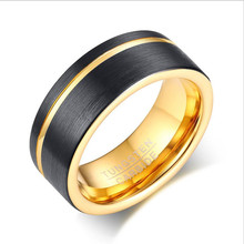 hollow shaft brushed slip ring through hole 12 7mm rotary joint conductive slipring out 54mm 6 12 18 24 circuits 5a collect ring Popular jewelry wholesale 8MM tungsten steel brushed groove ring black + gold men's ring ring