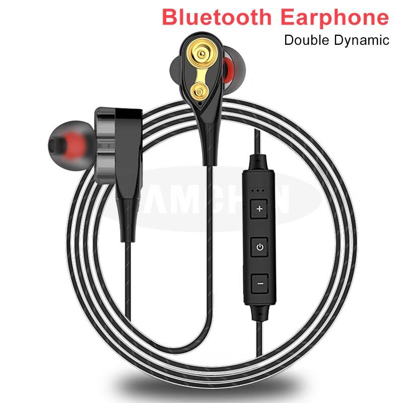 Высококачественные стерео наушники, беспроводные Bluetooth наушники, двойные динамические Гибридные Bluetooth 5,0 спортивные наушники для Xiaomi Iphone