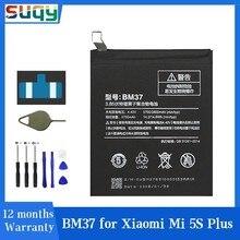 Suqy bm37 bateria para xiaomi mi 5S plus mi5s plus mais xiomi mi 5S mais bateria de reparação fazer telefone baterias