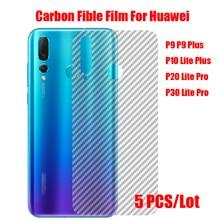 5Pcs Carbon Fiber Back Screen Protector Film Sticker For Huawei P8 P9 P