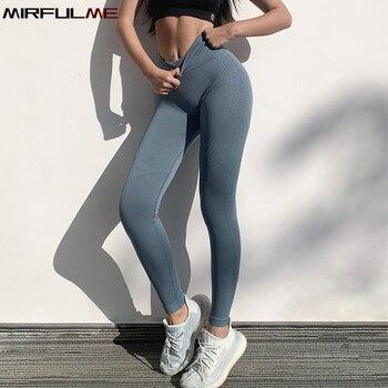 Energy-mallas deportivas sin costuras, para mujer, pantalones de Yoga de elevación de cadera, pantalón de correr ajustado, mallas deportivas de Control de barriga para gimnasio, Leggings para mujer