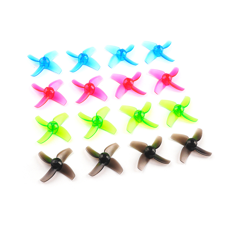 20PCS  Happymodel Mobula7 Part 40mm 1.0mm Hole 4 Blade Propeller For 0603 0703 0802 Motor Frame Spare Part Accessories