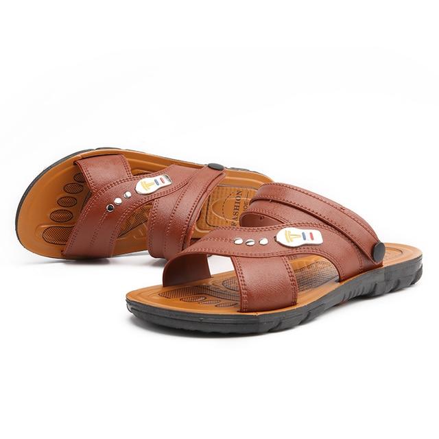 Men Sandals Genuine Leather Summer Outdoor Sandals Male Soft Roman Sandals Men Beach Casual Sandals Men Sneakers