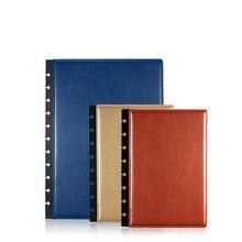 2020 buraco de cogumelo a4 a5 notebook, capa para notebook 2 peças t puncher acessórios de escritório kawaii frete grátis imitação de couro branco