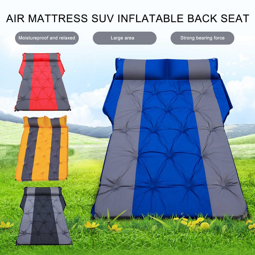 Colchón de aire inflable portátil para coche, asiento trasero para viaje, Camping, cama, accesorios para viajes de Camping, SUV automático Universal