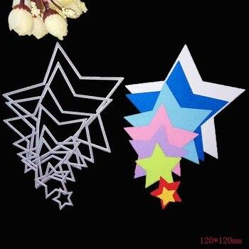 8pcs Basic Stars Cutting Dies Carbon steel Metal Scrapbooking Decorative Paper Cards Template