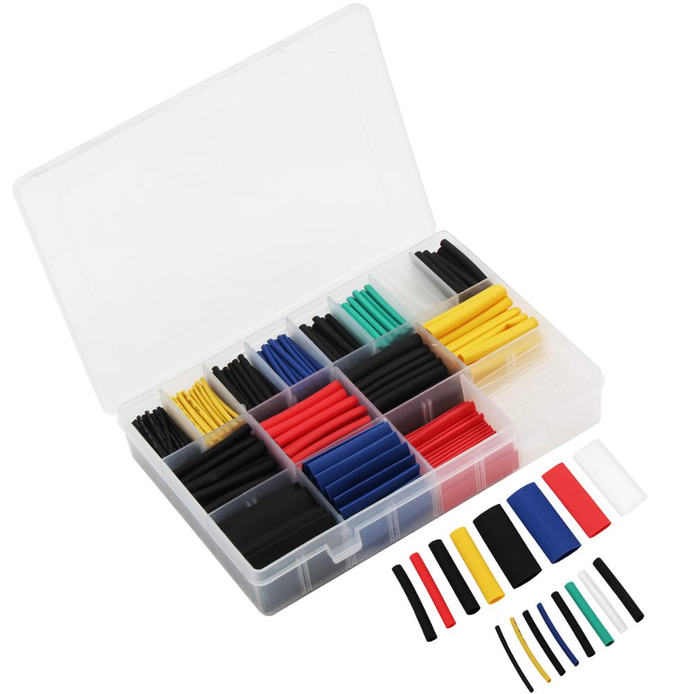 Heat Shrink Tube Insulation Shrinkable Wire Cable Tubing 580pcs Kit Tool