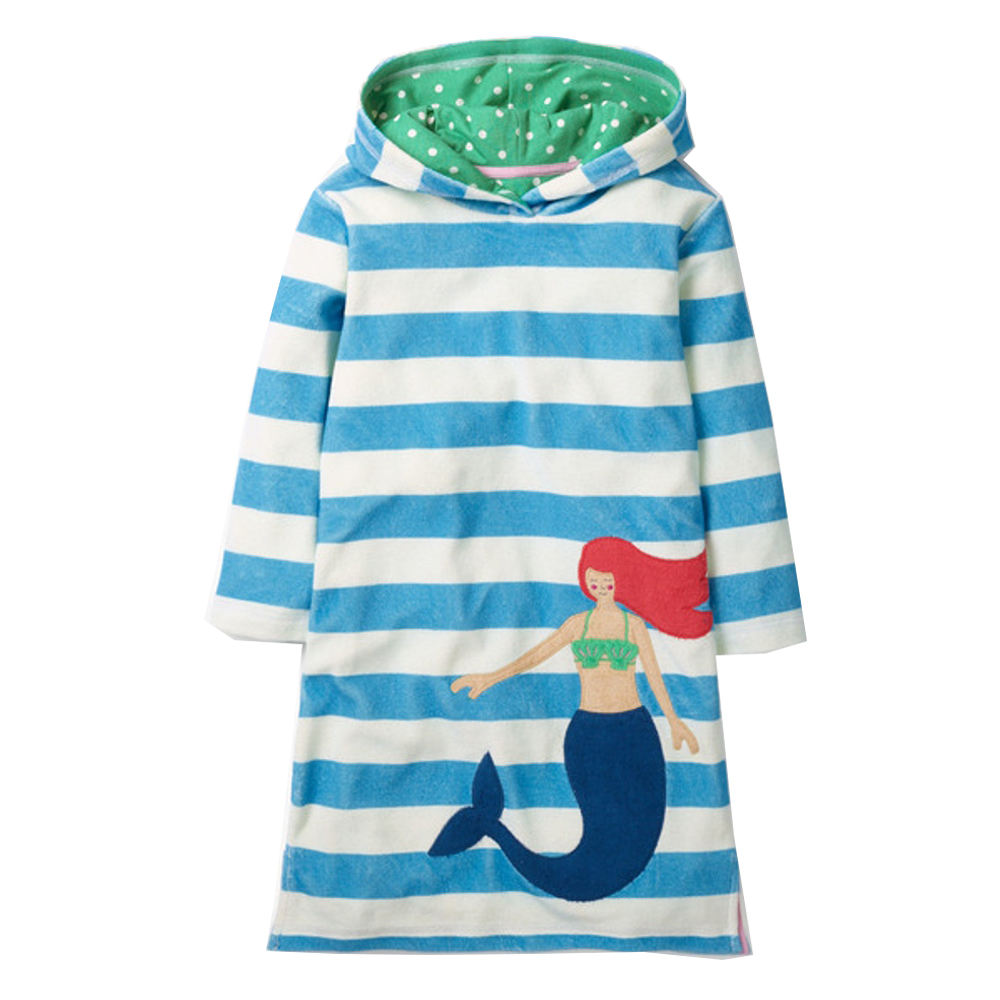 Toddler Girls Dress Autumn Winter Kids Hooded Dresses for Girl Costume Cotton Princess Dress with Appliques Baby Girl Clothes