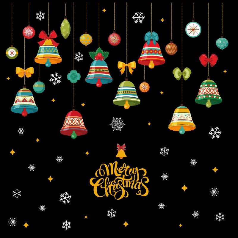 2020 Feliz Natal Festival Vidro da Janela Adesivos de Parede Parede Decalques Murais de Papai Noel Ano Novo Decorações de Natal para a Decoração Da Casa