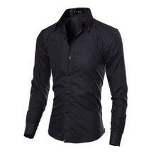 2019 New Luxury Quality Men Slim Fit Shirt Long Sleeve Dress Shirts
