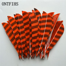 50 Pcs 4 Right Wing Drop Shape Feather Hunting Arrow Accessories With And Turkey Real A-33