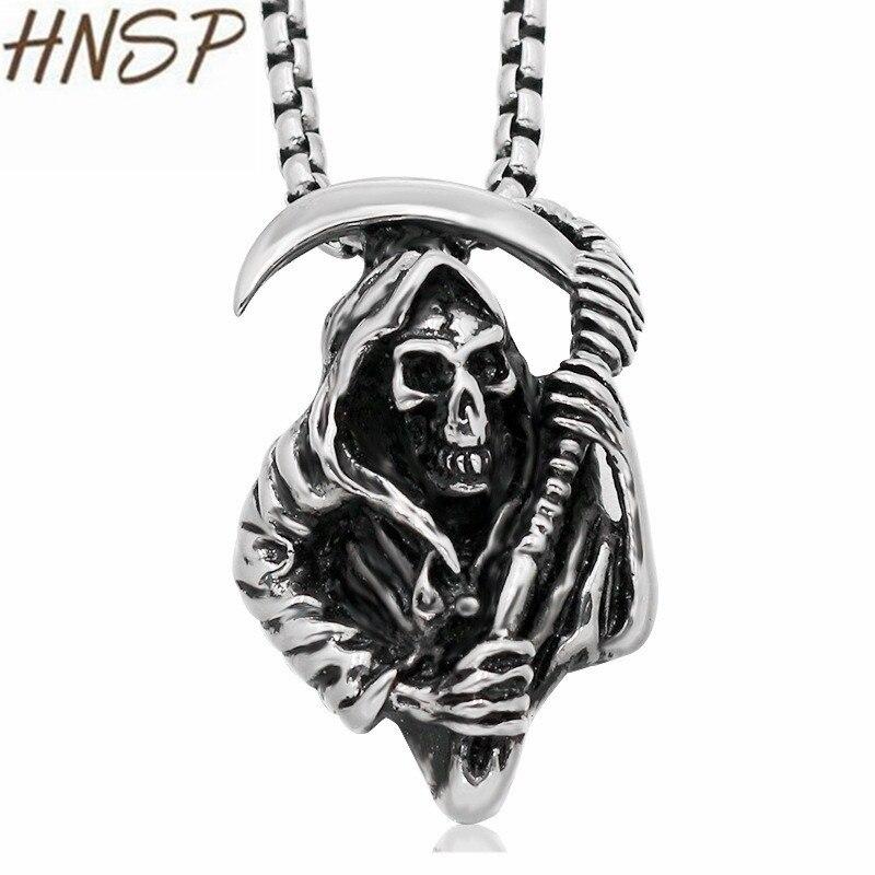 Colgante de bala de Hip Hop de hombre collar cadena de acero inoxidable motorista joyería de soldado