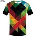 KYKU Marke Psychedelic T hemd Männer Geometrischen T-shirt Gedruckt Graffiti Shirt Drucken Russland Lustige T shirts Harajuku T-shirts 3d