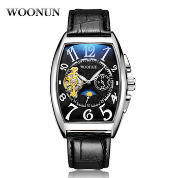 Fashion Men Watches Luxury Tourbillon Watches Men Automatic Mechanical Watches Leather Band erkek kol saati montre homme eric nam vancouver