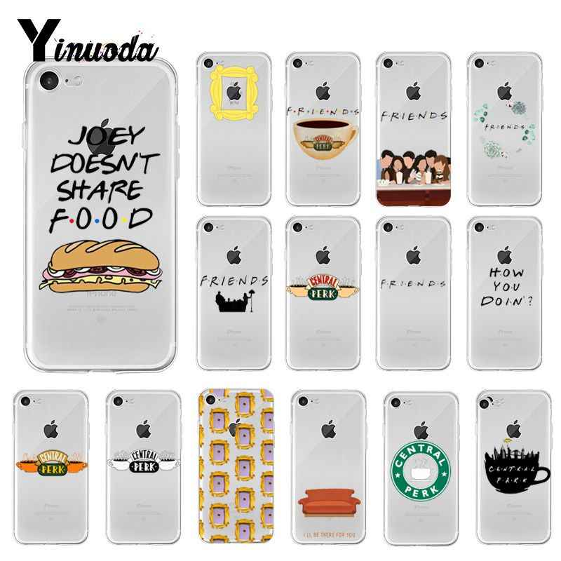 Yinuoda Friends TV Show Funny Central Perk Park Cover Phone Case for iPhone 8 7 6 6S Plus X XS MAX 5 5S SE XR 10 Fundas Capa