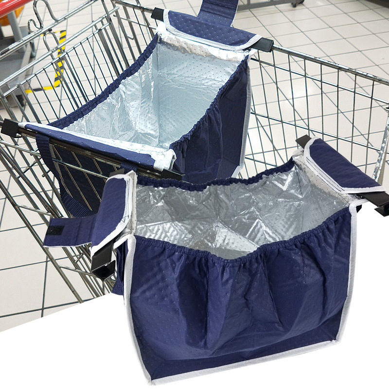 Supermarket Trolley Insulation Shopping Bag Eco Aluminum Ice Foldable Torba Na Zakupy Portable Bolsas Ecologicas Reutilizables