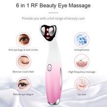 6 в 1 rf массажер для глаз мешков под глазами Красота здоровья