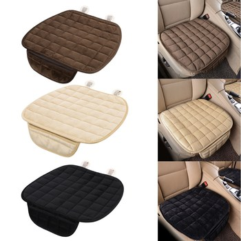 Plush Car Seat Cover Anti-slip Four Seasons Front Rear Breathable Protector Mat Pad Auto Accessories Universal Size Car Acces image