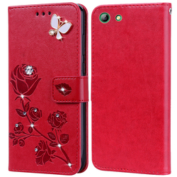 Flip Phone Case for Elephone S7 Cover for Elephone s7 Bling Flower 3D Diamond Premium Leather Wallet Case