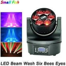 Светодиодный луч wash six глаза пчел 6x15w 4 в 1 rgbw dmx512
