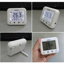 KERUI détecteur dalarme sans fil LED, capteur de température et humidité réglable, pour protéger le personnel et la sécurité des biens