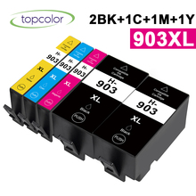 Topcolor 903XL 2BK CMY Color Ink Cartridge Compatible HP 903 HP-903 H-903 for HP Printer OfficeJet Pro 6950 6960 6970 All-in-One hp envy 120 e all in one inkjet printer copier sc