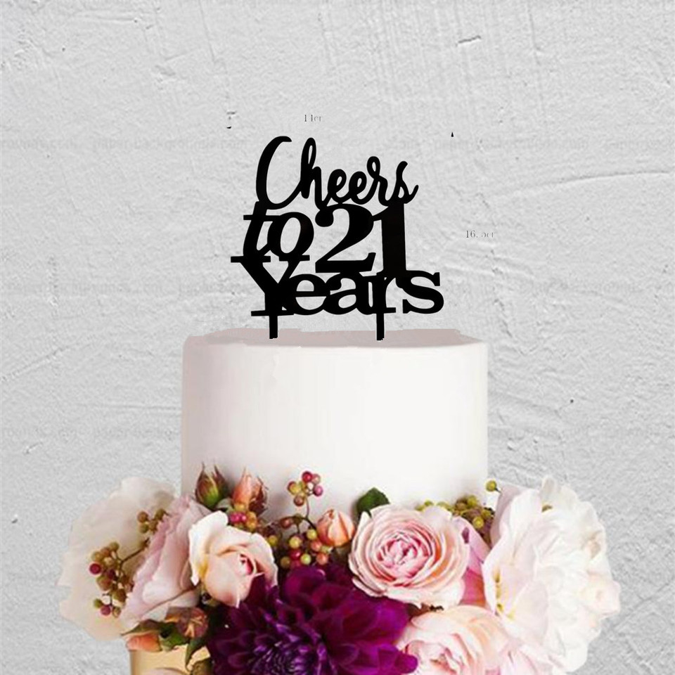 Astonishing Cheers To 21 Years 21St Birthday Party Cake Topper Unique Twenty Funny Birthday Cards Online Barepcheapnameinfo