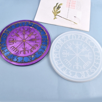 Crystal Epoxy Resin Mold Astrology Astrolabe Tray DIY Ornaments Silicone Mould M2EA image