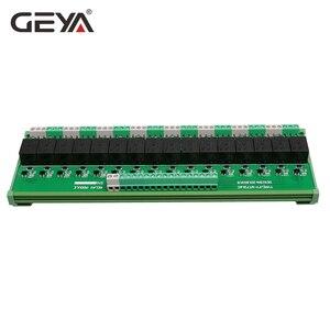 Image 4 - GEYA 16 مجموعة 1SPDT 1NC1NO وحدة التتابع ل التيار المتناوب تيار مستمر 5 فولت 12 فولت 24 فولت PLC التتابع