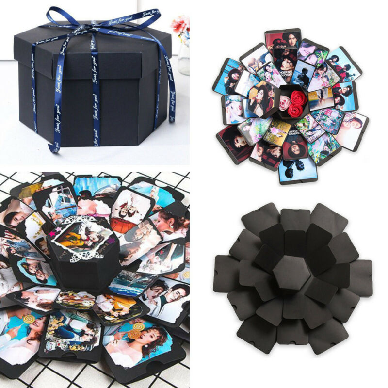Christmas Creative Explosion Box Memory Scrapbook DIY Photo Album Suprise Box Wedding Engagement Birthday Valentine´s Day Gifts