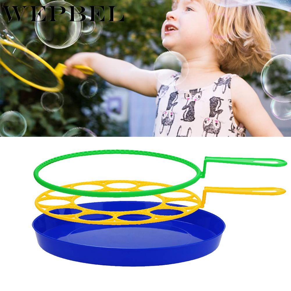 WEPBEL Bubble Machine Blowing Bubble Tool Soap Bubble Maker Blower Set Big Bubble Dish Outdoor Funny Gift Toys For Children Kids