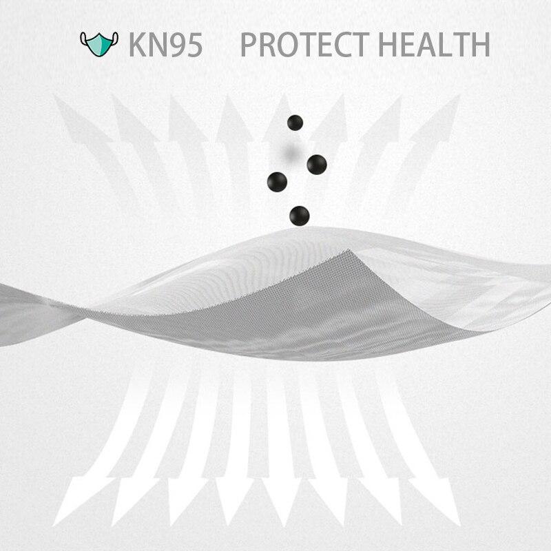 5 pçs/saco kn95 máscara protetora pm2.5 anti-nevoeiro forte respirador máscara de boca protetora reutilizável (não para uso médico) 2
