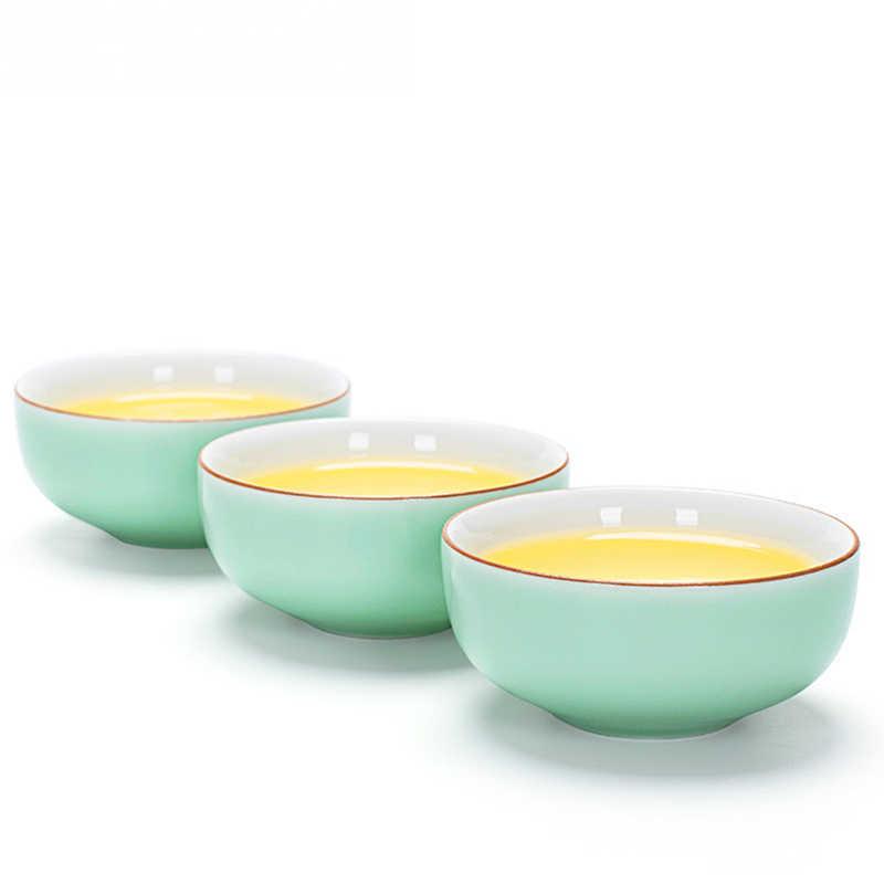 China Celadon Groen Mini Thee Cup Kleine Cup Kung Fu Thee Set Accessoires Thee Kom Groothandel Geschenken