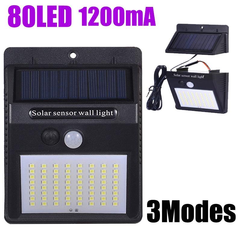 Solar Energy Light Indoor Night Lighting LED Lamp Exterior Solar Panel For Home Garden Street Yard Path  Separable