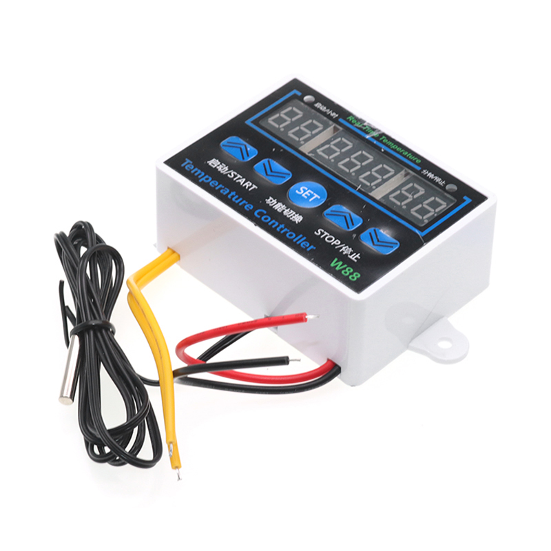 W1411 12 24 220V LED Microcomputer Digital Display Temperature Controller Thermostat Intelligent Time Controller Adjustable Elec