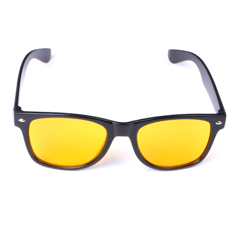 Unisex Yellow Lenses Night-Vision Glasses Driving Glasses Block Harmful Light Rays With Excellent Optical Clarity