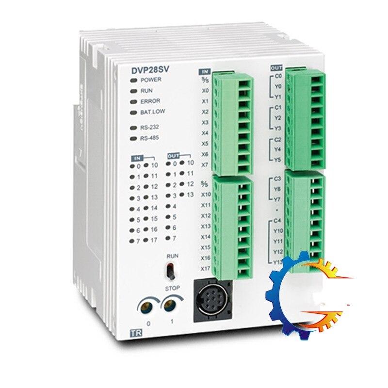 DVP28SV11T2 DELTA PLC Programmable Controller Transistor Output 28-point Host 16DI / 12DO (NPN / 24Vdc / 0.5A) 4 Channels 200K