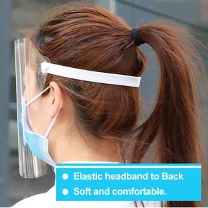 Image 3 - Outdoor Workshop Reiniging Beschermende Gezicht Shield Clear Vizier Flip Up Transparant Masker Anti Splash Elastische Band Full Face Cover