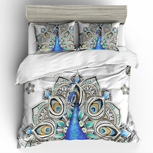 Bedding Set 3D Printed Peacock For Home Duvet Cover Queen King 12 Size With Pillowcase Comforter 2/3Pcs Textile